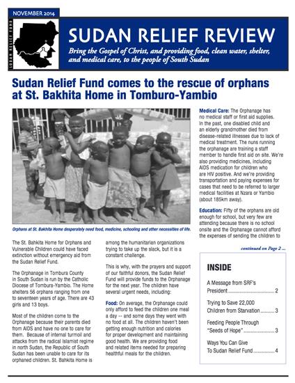 SRF 2014 4TH Quarter Newsletter