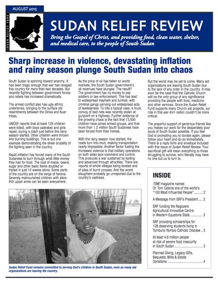 SRF 2015 3RD Quarter Newsletter