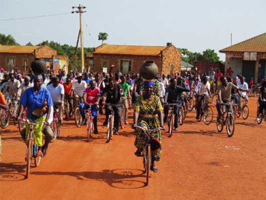 Citizens in Yambio ride for peace and co-existence