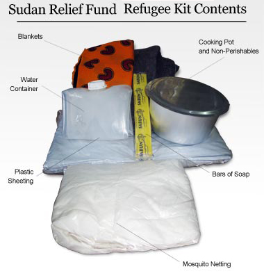 Refugee Kits for those Starving in the Sudan